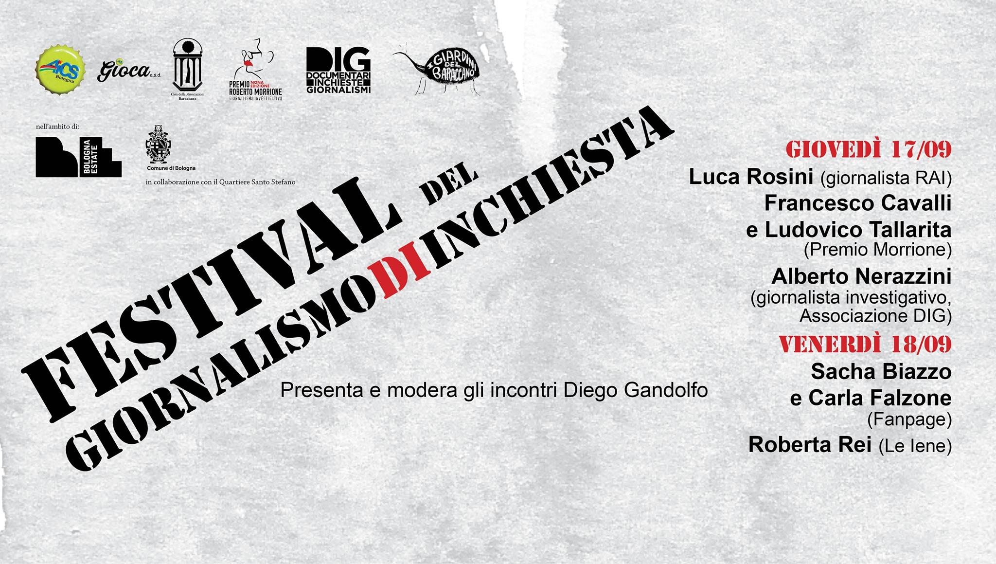 Festival del giornalismo d'inchiesta Bologna