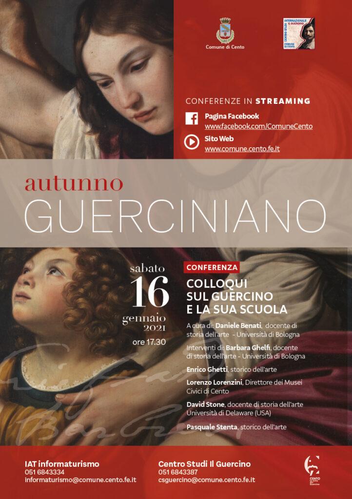 """""""Colloqui sul Guercino e la sua scuola"""" nell'ambito di Autunno Guerciniano 2020/2021"""